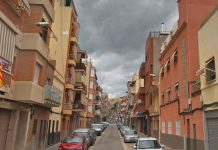 Tall al carrer Colomeres